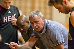 Basketball, 2.Bundesliga, Grunddurchgang 19.Runde, Mattersburg Rocks, Basket Flames, Franz Zderadicka (Coach), Renaldo O´Neal (Ass. Coach)