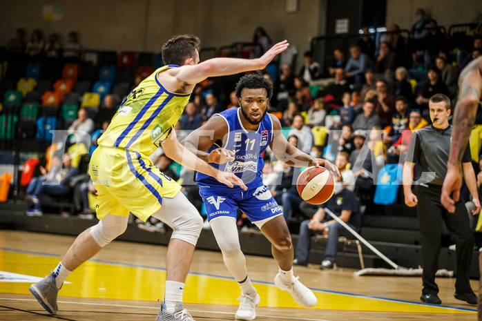 Basketball, bet-at-home Basketball Superliga 2020/21, Grunddurchgang 3. Runde, UBSC Graz, Oberwart Gunners, Freddie McSwain Jr. (11)