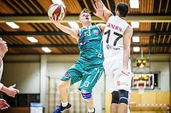 Basketball, 2.Bundesliga, Grunddurchgang 2.Runde, Mattersburg Rocks, KOS Celovec, Erik Kralj (13)