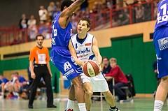Basketball, ABL 2016/17, CUP 2.Runde, Blue Devils Wr. Neustadt, Oberwart Gunners, Attila Völgyes (4), Andell Cumberbatch (13)
