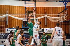 Basketball, bet-at-home Basketball Superliga 2020/21, Grunddurchgang 1. Runde, Oberwart Gunners, Kapfenberg Bulls, Dominik Simmel (8); Alexander Herrera (5)