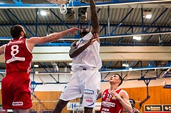 Basketball, ABL 2016/17, Grunddurchgang 19.Runde, Oberwart Gunners, BC Vienna, Jamari Traylor (9), Pedrag Miletic (8)
