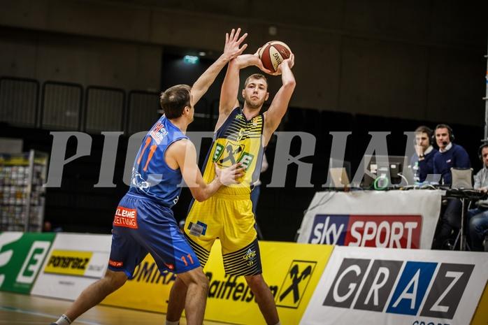 Basketball, ABL 2018/19, Grunddurchgang 17.Runde, UBSC Graz, Kapfenberg Bulls, Luka Nikolic (9)