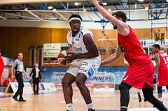 Basketball, ABL 2016/17, Playoff HF Spiel 5, Oberwart Gunners, WBC Wels, Cedric Kuakumensah (5)