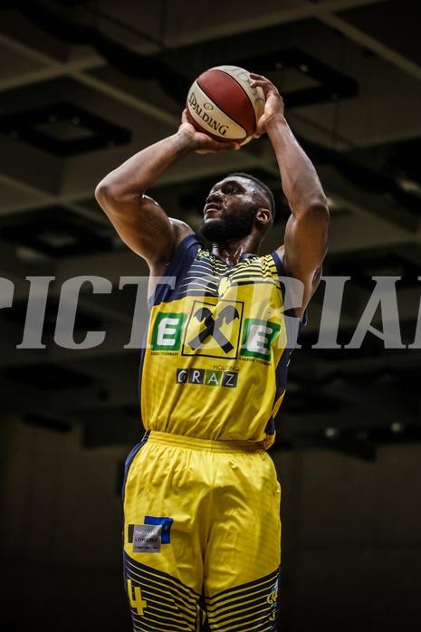 Basketball, ABL 2018/19, Grunddurchgang 17.Runde, UBSC Graz, Kapfenberg Bulls, C.J. Turman (4)