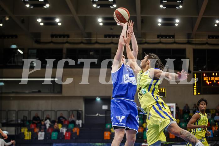 Basketball, bet-at-home Basketball Superliga 2020/21, Grunddurchgang 3. Runde, UBSC Graz, Oberwart Gunners, Sebastian Käferle (7)