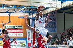Basketball, ABL 2016/17, Grunddurchgang 19.Runde, Oberwart Gunners, BC Vienna, Derek Jackson Jr. (6)