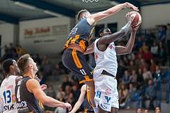Basketball, ABL 2016/17, Grunddurchgang 2.Runde, Oberwart Gunners, Klosterneuburg Dukes, Cedric Kuakumensah (5), Jozo Rados (11)