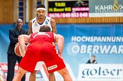 Basketball, ABL 2016/17, Grunddurchgang 19.Runde, Oberwart Gunners, BC Vienna, Derek Jackson Jr. (6), Pedrag Miletic (8)