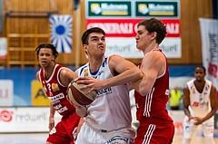 Basketball, ABL 2016/17, Grunddurchgang 19.Runde, Oberwart Gunners, BC Vienna, Benjamin Blazevic (12), Sebastian Koch (10)