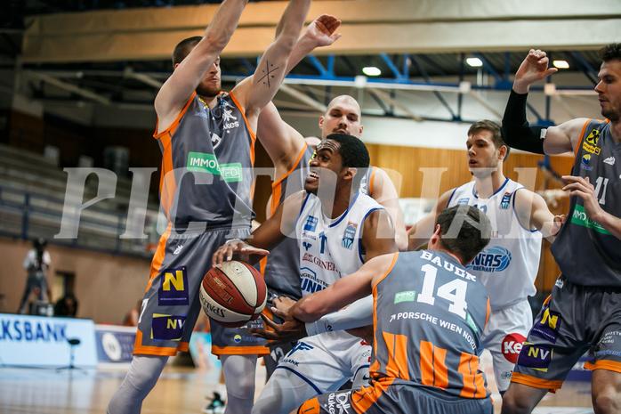 Basketball, bet-at-home Basketball Superliga 2020/21, Grunddurchgang 8. Runde, Oberwart Gunners, Klosterneuburg Dukes, Nigel Pruitt (11)