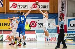 Basketball, ABL 2016/17, CUP VF, Oberwart Gunners, UBSC Graz, Georg Wolf (10), Steffen Leitgeb (14)