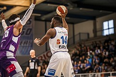 Basketball, ABL 2018/19, Grunddurchgang 33.Runde, Oberwart Gunners, Vienna DC Timberwolves, Christopher Tawiah (14)