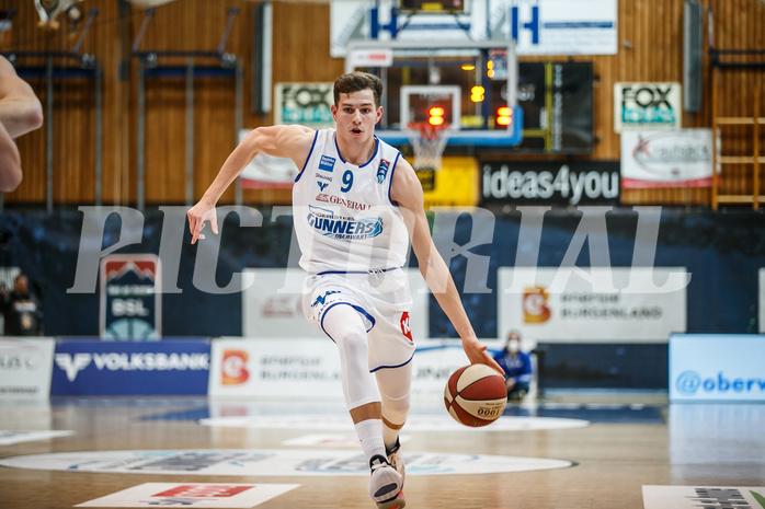 Basketball, bet-at-home Basketball Superliga 2020/21, Grunddurchgang 8. Runde, Oberwart Gunners, Klosterneuburg Dukes, Edi Patekar (9)