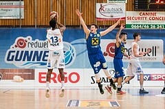 Basketball, ABL 2016/17, CUP VF, Oberwart Gunners, UBSC Graz, Andell Cumberbatch (13), Steffen Leitgeb (14)