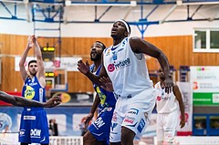 Basketball, ABL 2016/17, Grunddurchgang 15.Runde, Oberwart Gunners, Gmunden Swans, Cedric Kuakumensah (5)