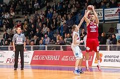 Basketball, ABL 2016/17, Grunddurchgang 19.Runde, Oberwart Gunners, BC Vienna, Stjepan Stazic (7), Sebastian Kaeferle (7)