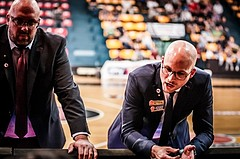 Basketball, ABL 2017/18, Playoff VF Spiel 2, BC Vienna, WBC Wels, Sebastian Waser (Headcoach), Dimitris Sarikas (Ass. Coach)