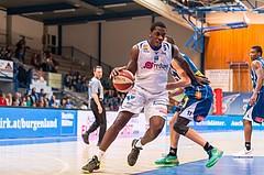 Basketball, ABL 2016/17, Grunddurchgang 7.Runde, Oberwart Gunners, Kapfenberg Bulls, Cedric Kuakumensah (5), Milan Stegnjaic (11)