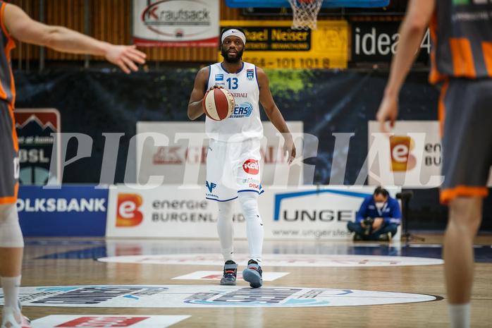 Basketball, bet-at-home Basketball Superliga 2020/21, Grunddurchgang 8. Runde, Oberwart Gunners, Klosterneuburg Dukes, Quincy Diggs (13)