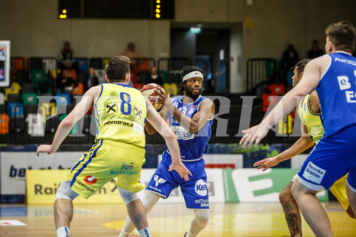 Basketball, bet-at-home Basketball Superliga 2020/21, Grunddurchgang 3. Runde, UBSC Graz, Oberwart Gunners, Quincy Diggs (13)