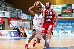 Basketball, ABL 2016/17, Grunddurchgang 19.Runde, Oberwart Gunners, BC Vienna, Andell Cumberbatch (13), Pedrag Miletic (8)
