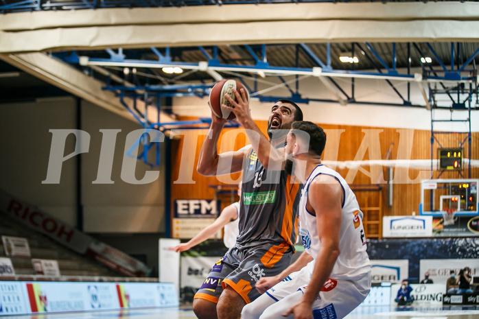 Basketball, bet-at-home Basketball Superliga 2020/21, Grunddurchgang 8. Runde, Oberwart Gunners, Klosterneuburg Dukes, Edin Bavcic (13)