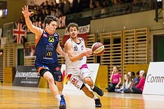 Basketball, ABL 2016/17, CUP 2.Runde, Mattersburg Rocks, Fürstenfeld Panthers, Jan NICOLI (10), Paul Radakovics (9)