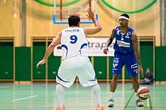Basketball, ABL 2016/17, CUP 2.Runde, Blue Devils Wr. Neustadt, Oberwart Gunners, Derek Jackson Jr. (6), Ali Dönmez (9)