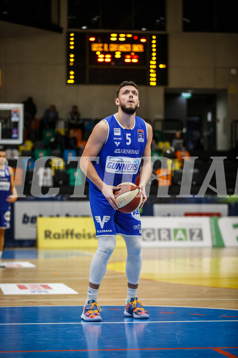 Basketball, bet-at-home Basketball Superliga 2020/21, Grunddurchgang 3. Runde, UBSC Graz, Oberwart Gunners, Ignas Fiodorovas (5)