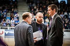Basketball, ABL 2018/19, Grunddurchgang 33.Runde, Oberwart Gunners, Timberwolves, Hubert Schmidt (Headcoach), Robert Langer (Ass. Coach), Stefan Grassegger (Ass. Coach)
