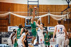 Basketball, bet-at-home Basketball Superliga 2020/21, Grunddurchgang 1. Runde, Oberwart Gunners, Kapfenberg Bulls, Alexander Herrera (5); Dominik Simmel (8)