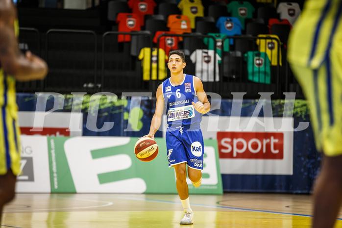 Basketball, bet-at-home Basketball Superliga 2020/21, Grunddurchgang 3. Runde, UBSC Graz, Oberwart Gunners, Magdy Abou-Ahmed (6)
