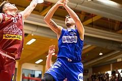 Basketball, ABL 2017/18, Grunddurchgang 14.Runde, Traiskirchen Lions, Oberwart Gunners, Benjamin Blazevic (12)