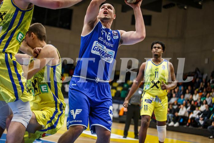 Basketball, bet-at-home Basketball Superliga 2020/21, Grunddurchgang 3. Runde, UBSC Graz, Oberwart Gunners, Renato Poljak (16)