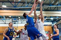 Basketball, ABL 2016/17, CUP VF, Oberwart Gunners, UBSC Graz, Benjamin Blazevic (12), Steffen Leitgeb (14)