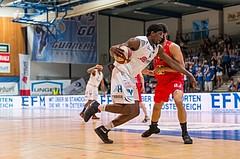 Basketball, ABL 2016/17, Playoff HF Spiel 2, Oberwart Gunners, WBC Wels, Cedric Kuakumensah (5)