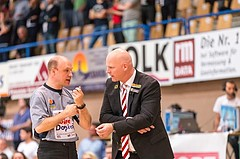 Basketball, ABL 2016/17, Playoff HF Spiel 2, Oberwart Gunners, WBC Wels, Mike Coffin (Headcoach)