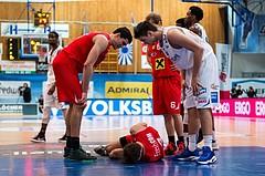 Basketball, ABL 2016/17, Grunddurchgang 21.Runde, Oberwart Gunners, WBC Wels, Thomas Csebits (4) am Boden